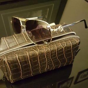 Fine Authentic Michael Kors Aviator Gold MK5001